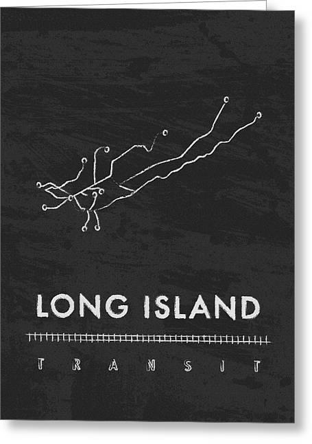 Long Street Greeting Cards - Long Island Transit 2 Greeting Card by Damon Gray