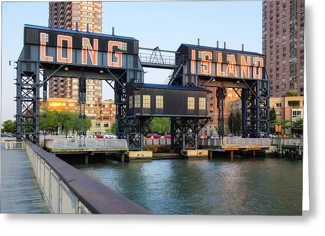 Landmark Greeting Cards - Long Island City  Greeting Card by Susan Candelario