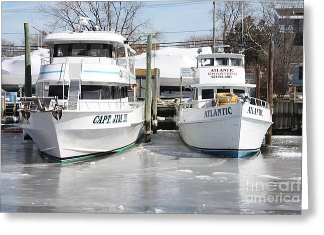 Slip Ins Greeting Cards - Long Island Freeze Greeting Card by John Telfer
