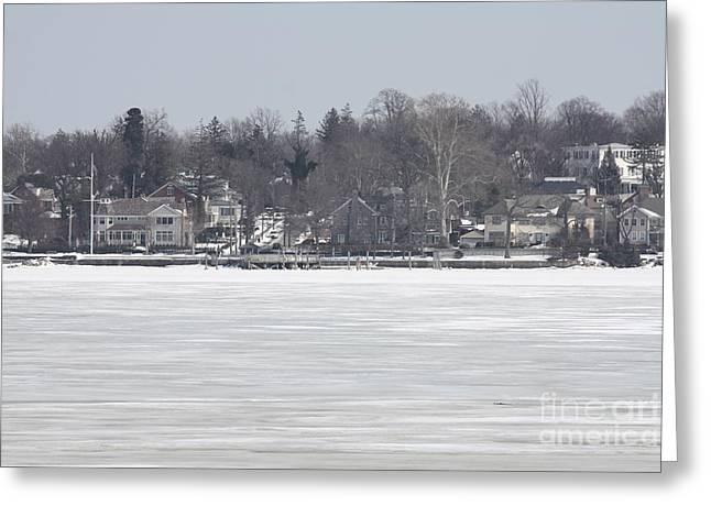 Long Island Frozen Coast I Greeting Card by John Telfer