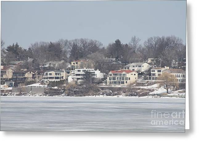 Great Neck Long Island Greeting Cards - Long Island Frozen Coast II Greeting Card by John Telfer