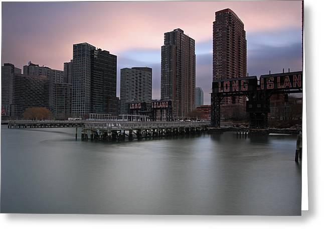 Gotham City Greeting Cards - Long Island Railroad Gantry Cranes Greeting Card by Juergen Roth