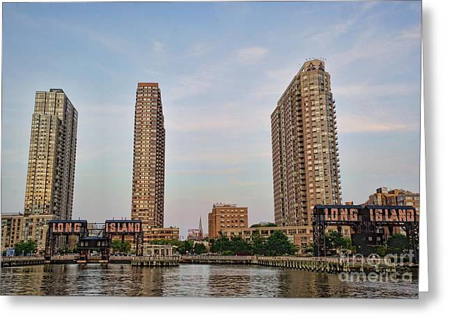 East River Drive Greeting Cards - Long Island Greeting Card by Ray Warren