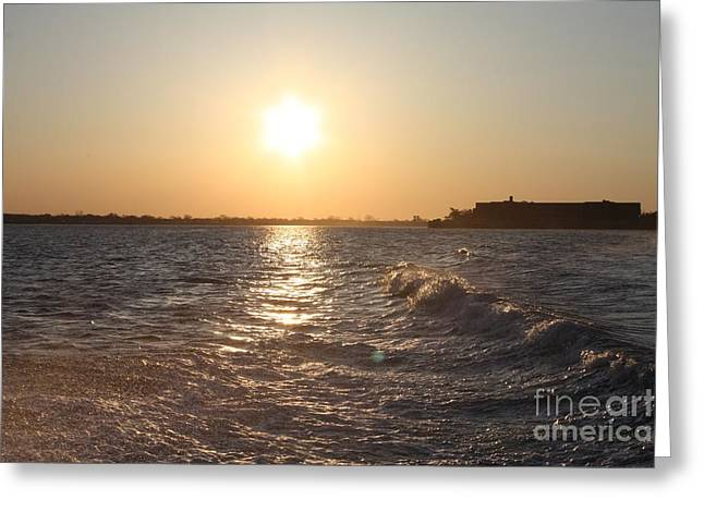 Long Island Sunrise Greeting Card by John Telfer