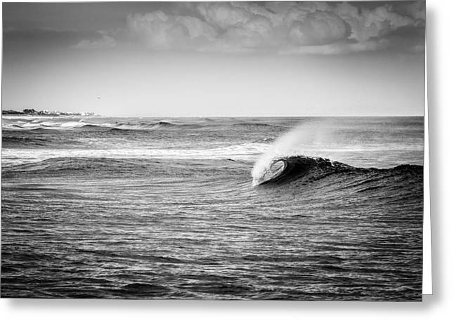 Hamptons Greeting Cards - Long Island Wave Greeting Card by Ryan Moore
