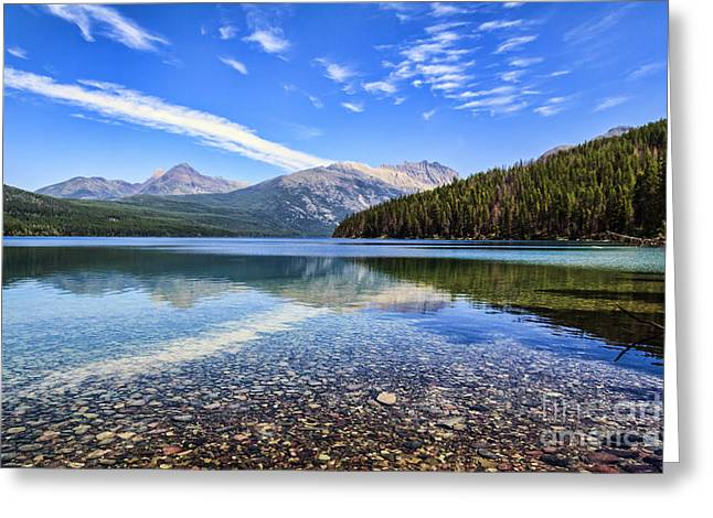 Fed Greeting Cards - Long Knife Peak at Kintla Lake Greeting Card by Scotts Scapes
