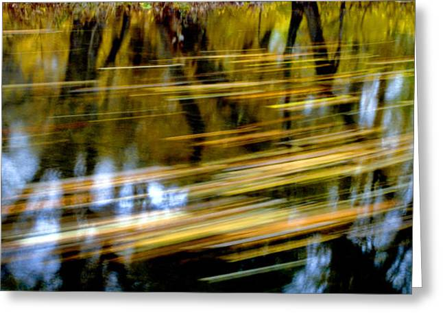 Reflection In Water Greeting Cards - Long Lazy Country Stream Greeting Card by Paul W Faust -  Impressions of Light