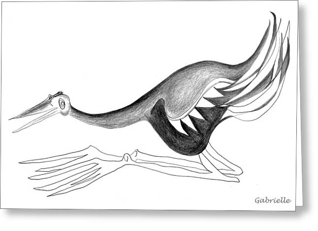 Tradional Greeting Cards - Long legged Bird Greeting Card by Gabrielle Marie
