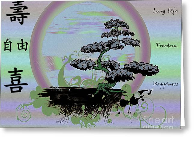 Pleasing Greeting Cards - Long Life Freedom Happiness Greeting Card by Cheryl Young