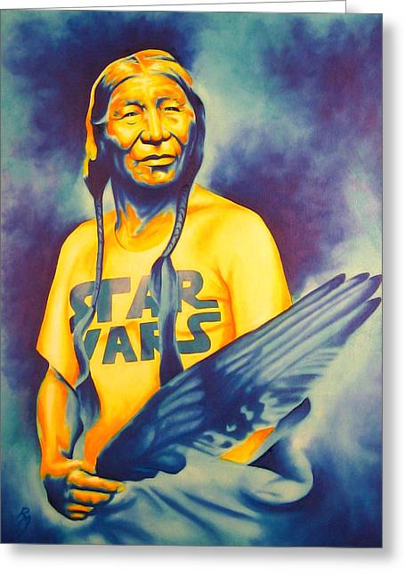 Native American Heroes Greeting Cards - Long Long Ago Greeting Card by Robert Martinez