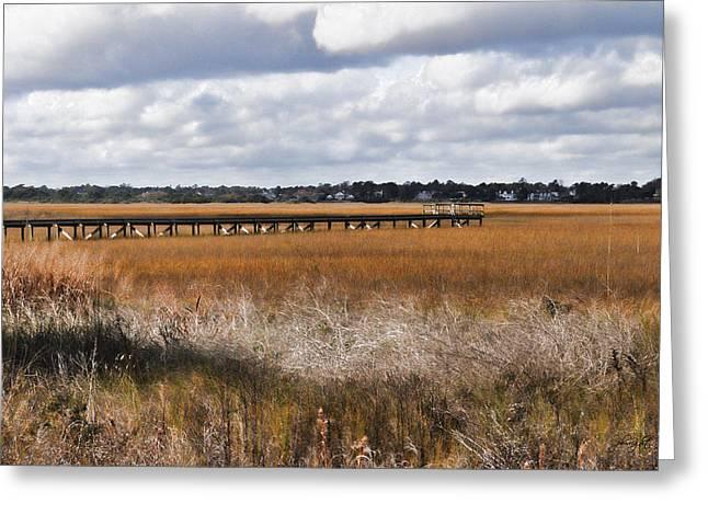 Google Digital Greeting Cards - Long Marsh Dock Greeting Card by Paulette B Wright