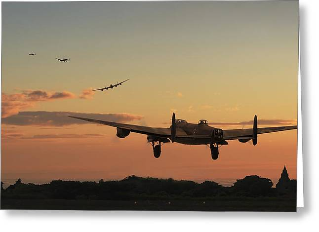 Lancasters Greeting Cards - Long Night Ahead Greeting Card by Pat Speirs