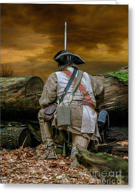 Muzzleloader Greeting Cards - Long Night Late Morning Greeting Card by Randy Steele