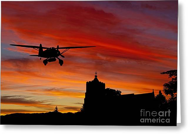 Sunset Greeting Cards Digital Art Greeting Cards - Long Night Over Greeting Card by Peter Chapman