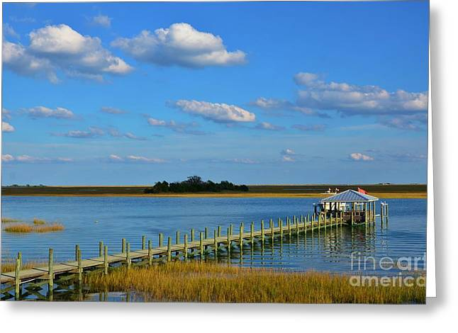 Interior Scene Greeting Cards - Long Pier Greeting Card by Bob Sample