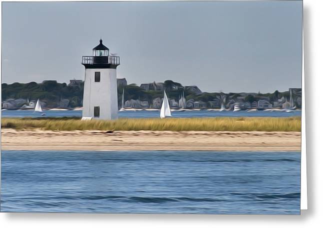 Long Point Light Greeting Card by Bill  Wakeley