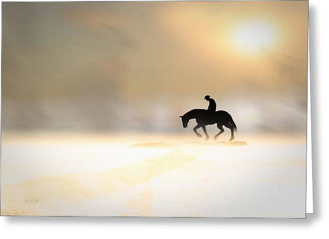 Pale Rider Greeting Cards - Long Ride Home Greeting Card by Bob Orsillo