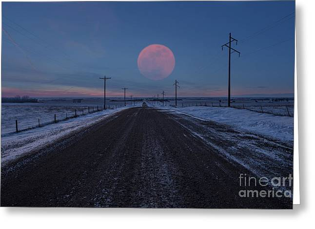 Nowhere Greeting Cards - Long Road Home Greeting Card by Aaron J Groen