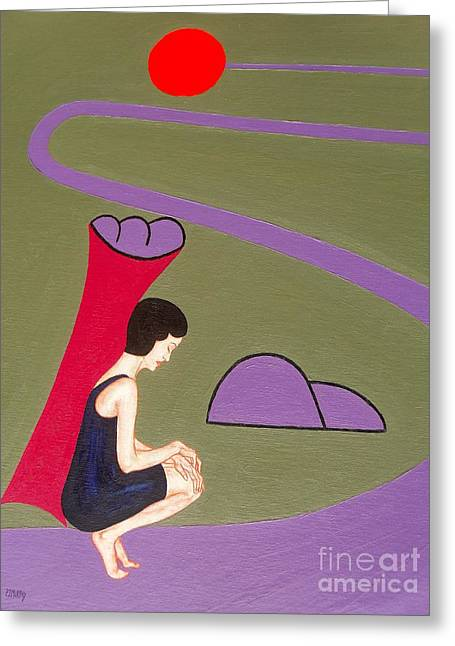 Struggling Paintings Greeting Cards - Long Road To The Sun Greeting Card by Patrick J Murphy