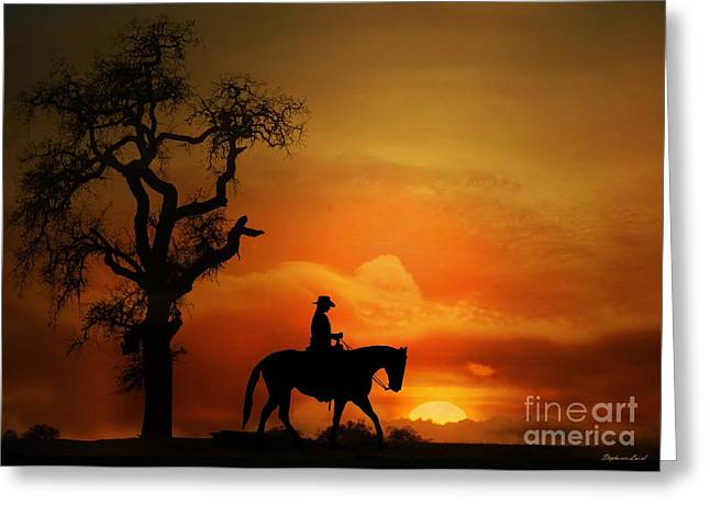Western Western Art Greeting Cards - Long summer day Greeting Card by Stephanie Laird
