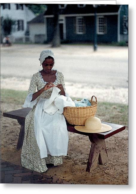 African-american Digital Greeting Cards - Long Time Ago Greeting Card by Suzanne Gaff
