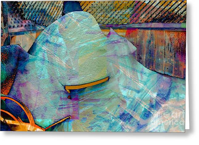Long Time to Summer - Snow Storm - Blizzard Abstract Greeting Card by Barbara Griffin