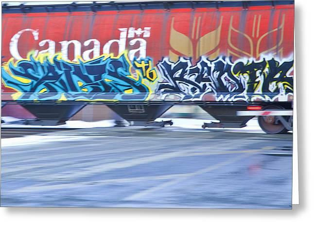 Canadian Prints Greeting Cards - Long Train Runnin Greeting Card by Theresa Tahara