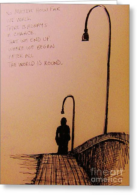 Long Walk  Greeting Card by John Malone