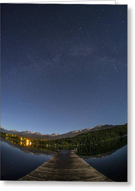 Constellations Greeting Cards - Long Walk Short Dock Greeting Card by Aaron S Bedell