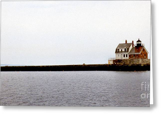 Maine Beach Greeting Cards - Long Walk Greeting Card by Skip Willits