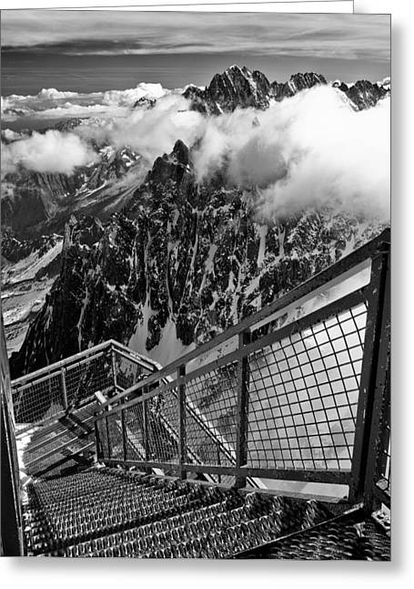 Midi Greeting Cards - Long Way Down Greeting Card by Adele Buttolph