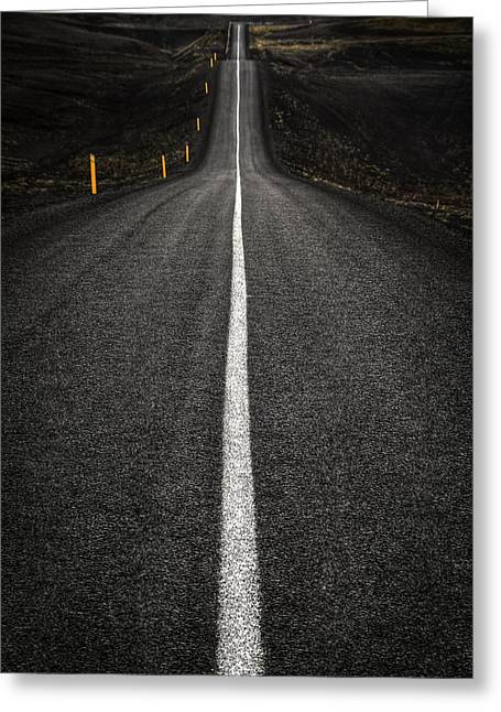 Ashes Greeting Cards - Long Way To Nowhere Greeting Card by Evelina Kremsdorf