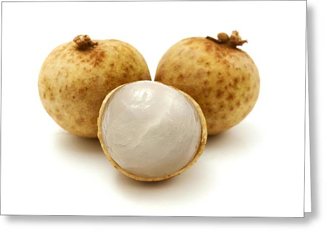 White Background Greeting Cards - Longan Greeting Card by Fabrizio Troiani