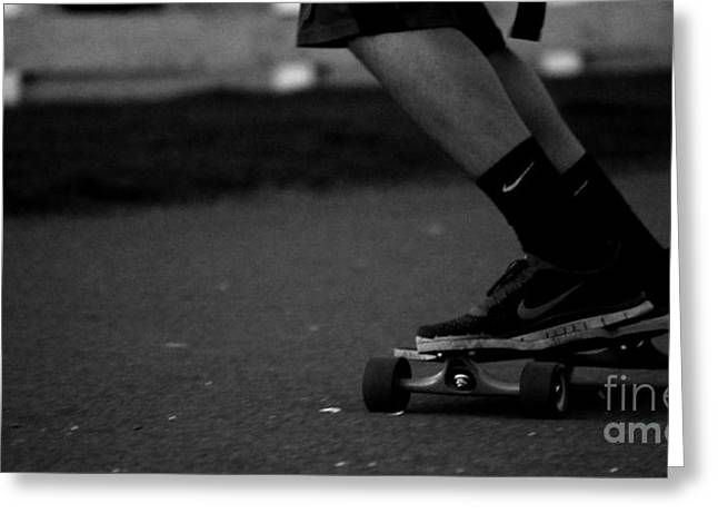 Nike Greeting Cards - Longboard Greeting Card by Connor Hauenstein