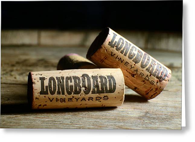 Napa Greeting Cards - Longboard Corks Greeting Card by Jon Neidert