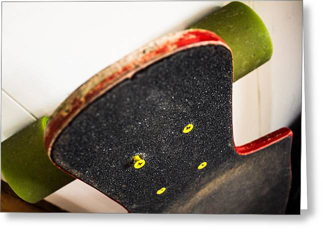 Grip Tape Greeting Cards - Longboard Greeting Card by Mike Mulhearn