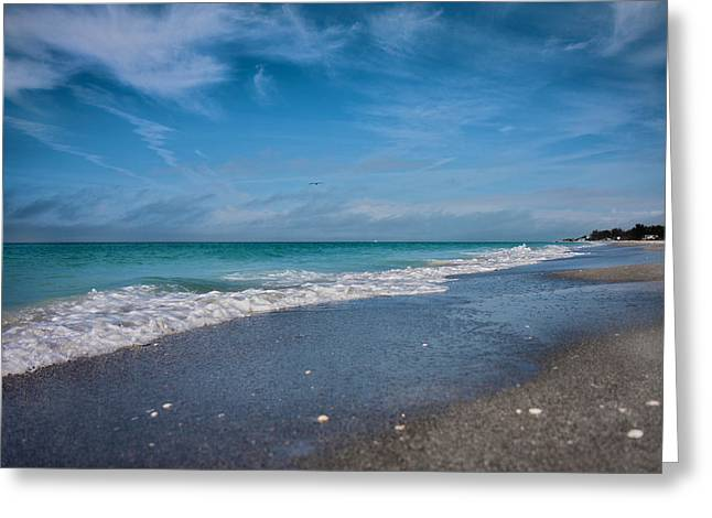 Blue Green Wave Greeting Cards - Longboat Key Glorious Day Greeting Card by Betsy A  Cutler