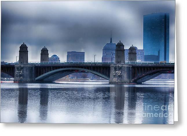 Massachusetts Bridges Greeting Cards - Longfellow Bridge Boston Greeting Card by Douglas Barnard