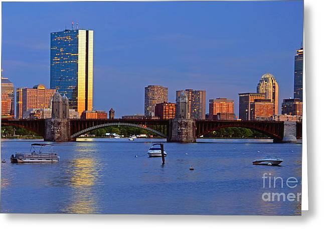 Boston North End Greeting Cards - Longfellow Bridge Greeting Card by Joann Vitali