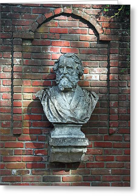 Statue Portrait Photographs Greeting Cards - Longfellow Greeting Card by Suzanne Gaff