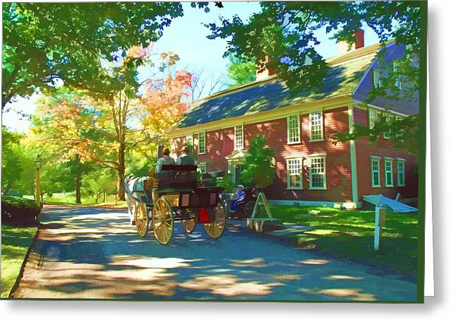 Wayside Inn Greeting Cards - Longfellows Wayside Inn Greeting Card by Barbara McDevitt