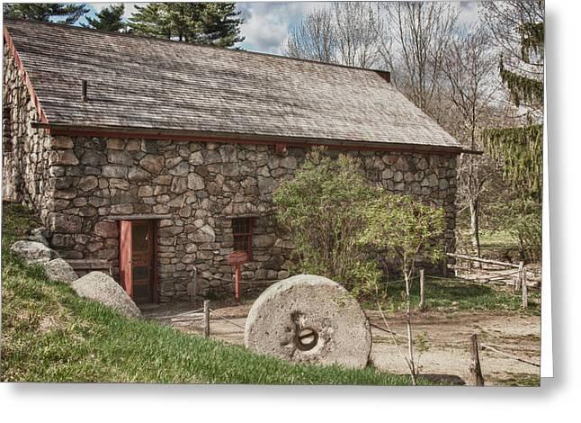 Longfellow's Wayside Inn grist mill Greeting Card by Jeff Folger