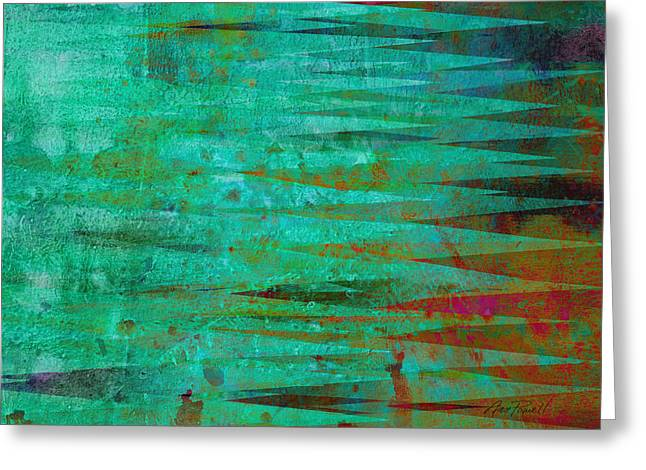 Abstract Digital Mixed Media Greeting Cards - Longing - abstract - art Greeting Card by Ann Powell