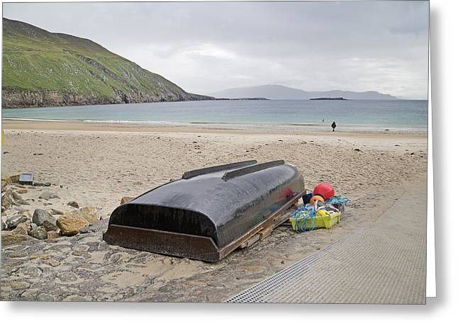 Green Day Greeting Cards - Longing for a Journey Keem Beach Ireland Greeting Card by Betsy A  Cutler
