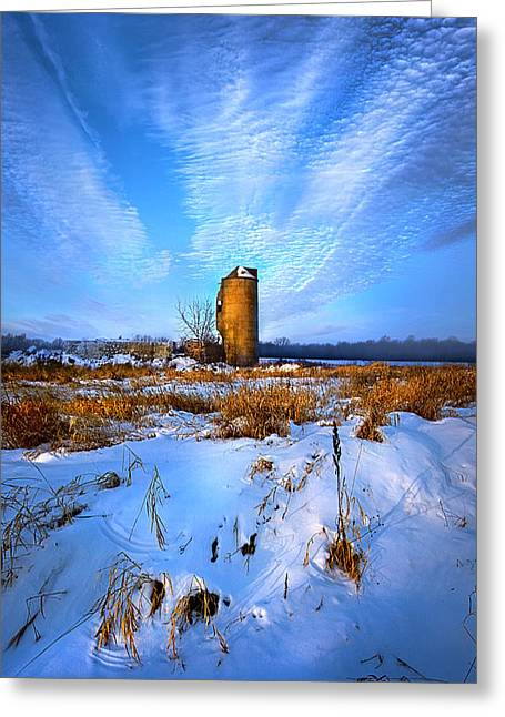 Silo Greeting Cards - Longing For Some Solitary Company Greeting Card by Phil Koch