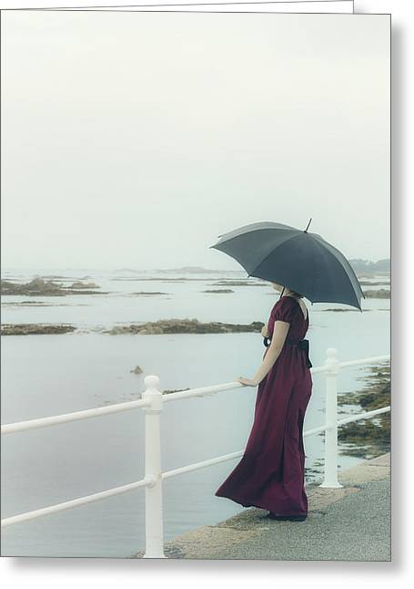 Bannister Greeting Cards - Longing Greeting Card by Joana Kruse