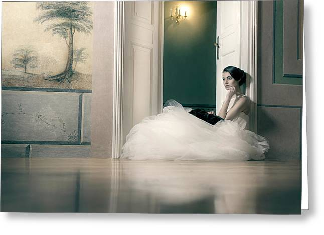 Longing Greeting Card by Piotr Werner