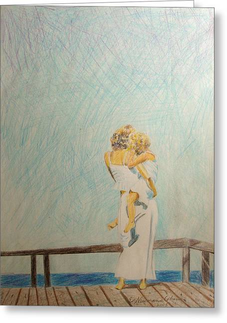 Colored Pencil On Canvas Greeting Cards - Longings Greeting Card by Esther Newman-Cohen