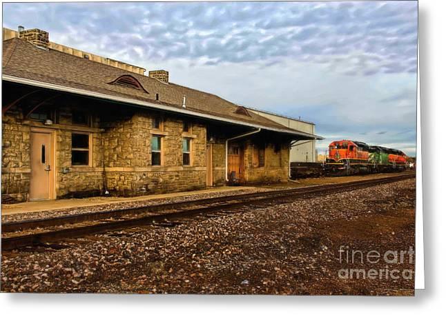 Longmont Depot Greeting Card by Jon Burch Photography