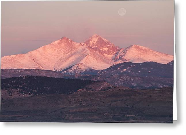 Lady Washington Greeting Cards - Longs Peak 4 Greeting Card by Aaron Spong